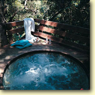 Over 20 Private Outdoor Mineral Springs Hot Tubs Are Terraced On The Hillside Property Each Tub Is Surrounded By A Small Fence You Get There Climbing